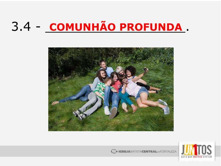 COMUNHÃO PROFUNDA