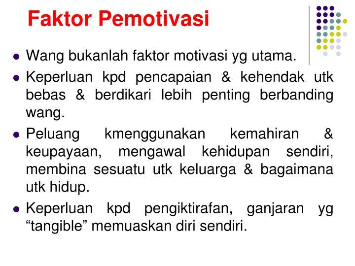 Faktor Pemotivasi