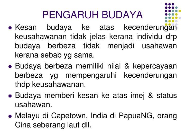 PENGARUH BUDAYA