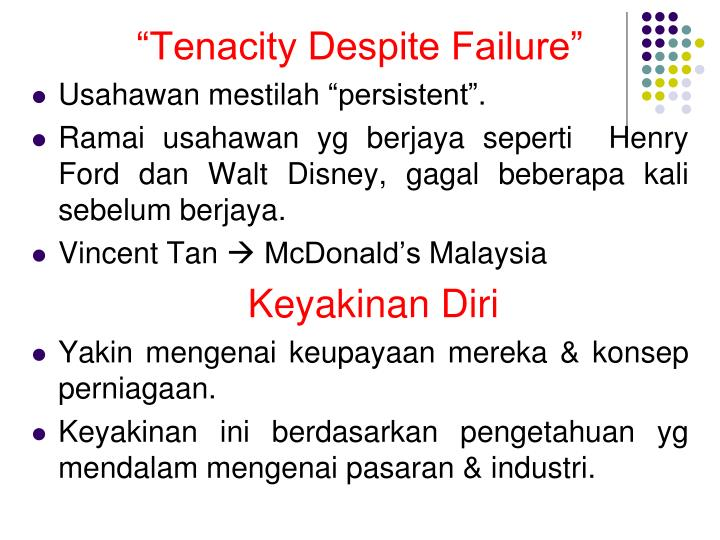 """Tenacity Despite Failure"""
