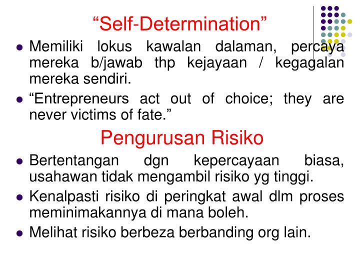 """""""Self-Determination"""""""