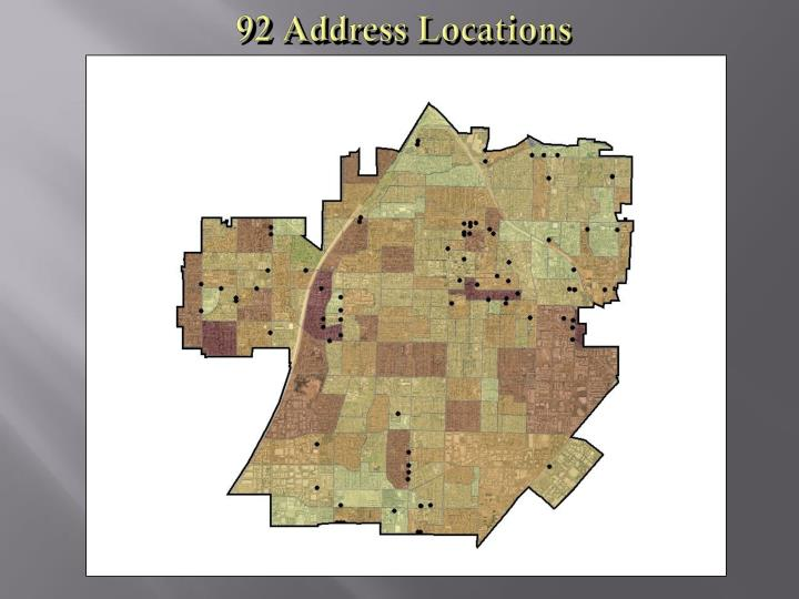 92 Address Locations