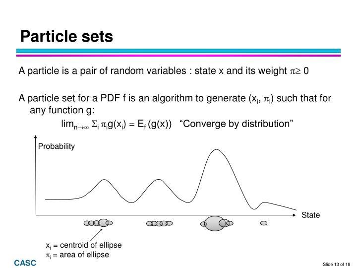Particle sets