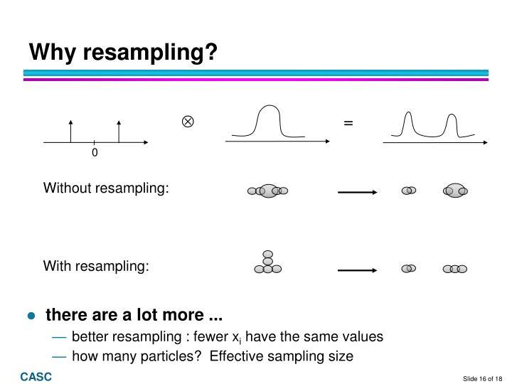 Why resampling?