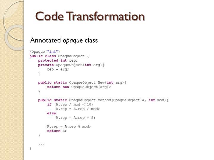 Code Transformation