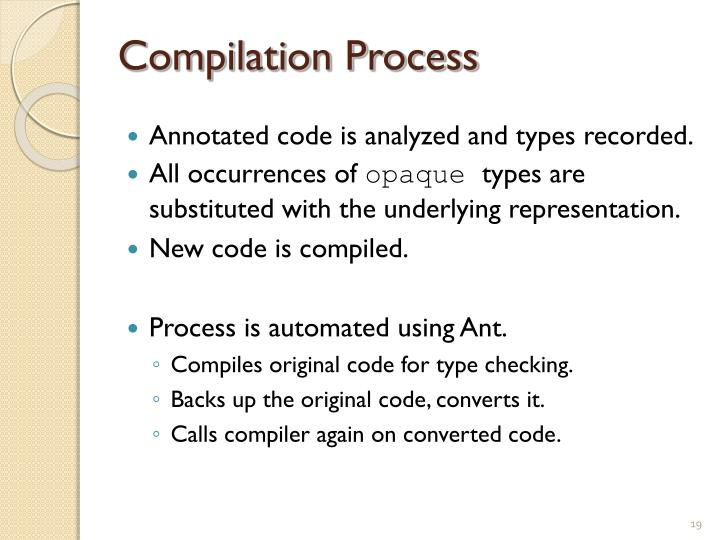 Compilation Process