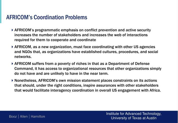 AFRICOM's Coordination Problems