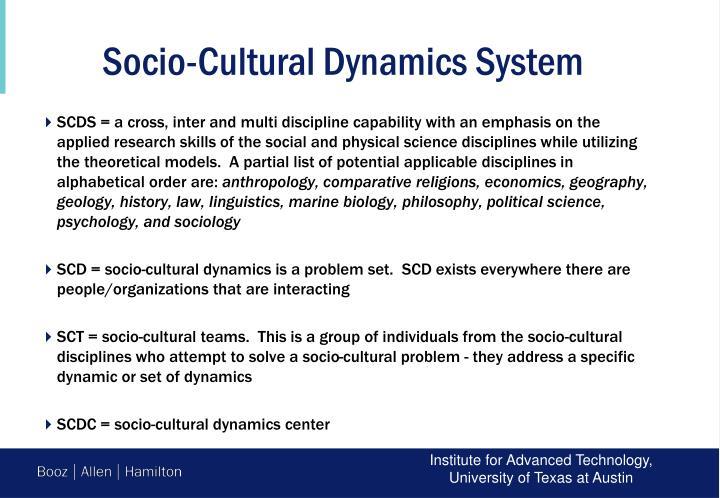 Socio-Cultural Dynamics System