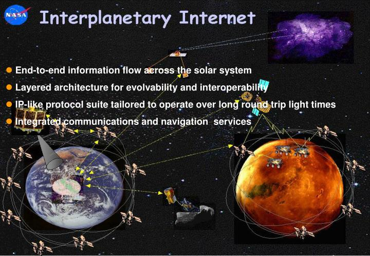 End-to-end information flow across the solar system