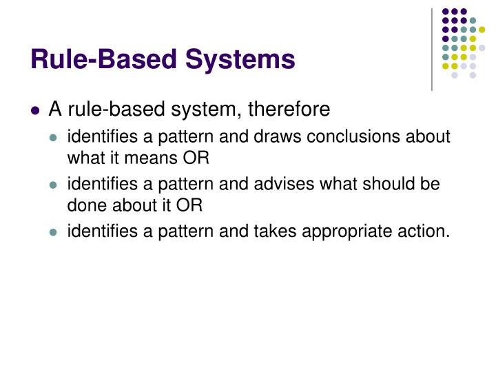Rule-Based Systems