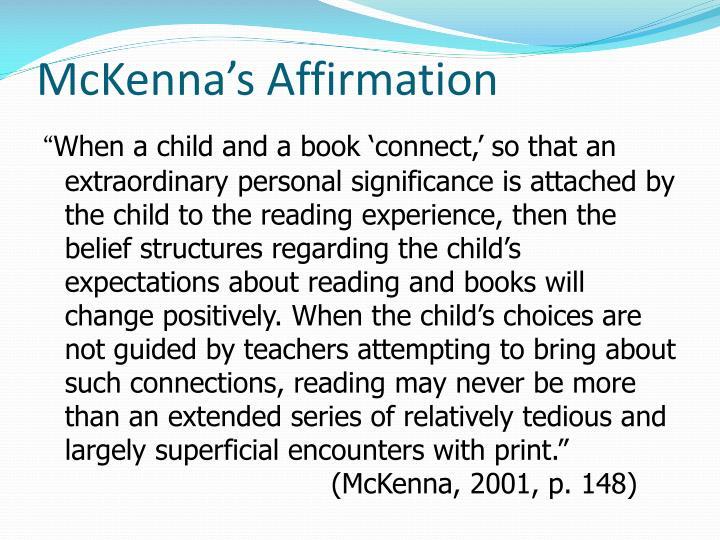 McKenna's Affirmation