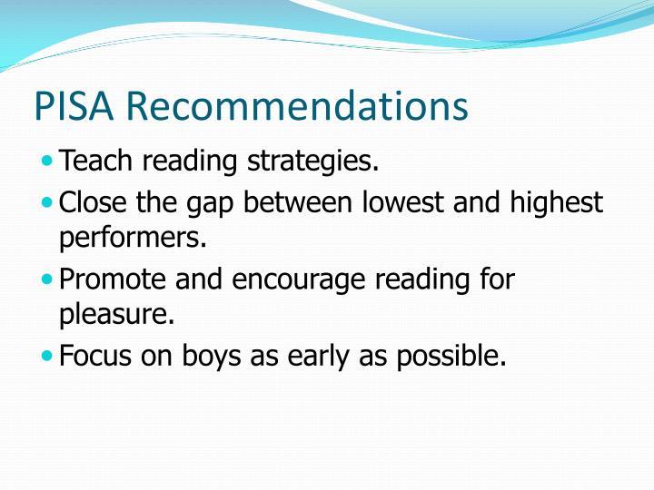 PISA Recommendations