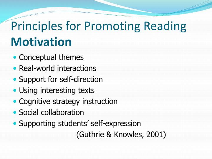 Principles for Promoting Reading