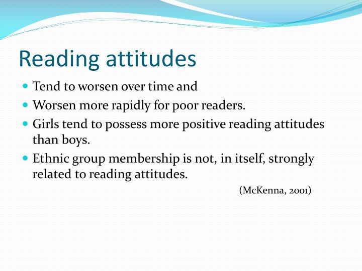 Reading attitudes
