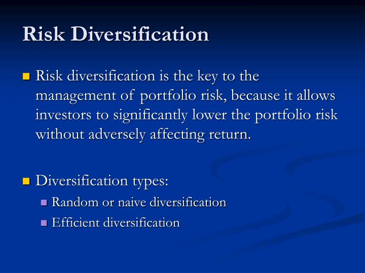 Risk Diversification