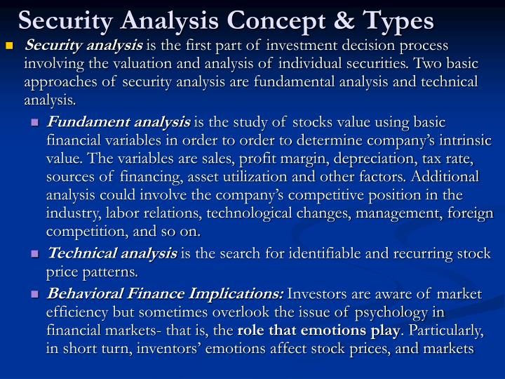Security Analysis Concept & Types