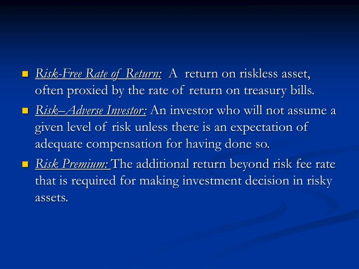 Risk-Free Rate of Return: