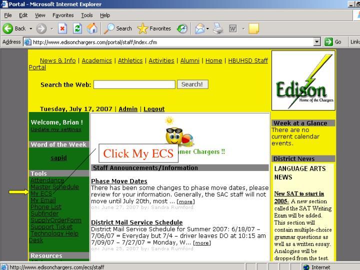Click My ECS
