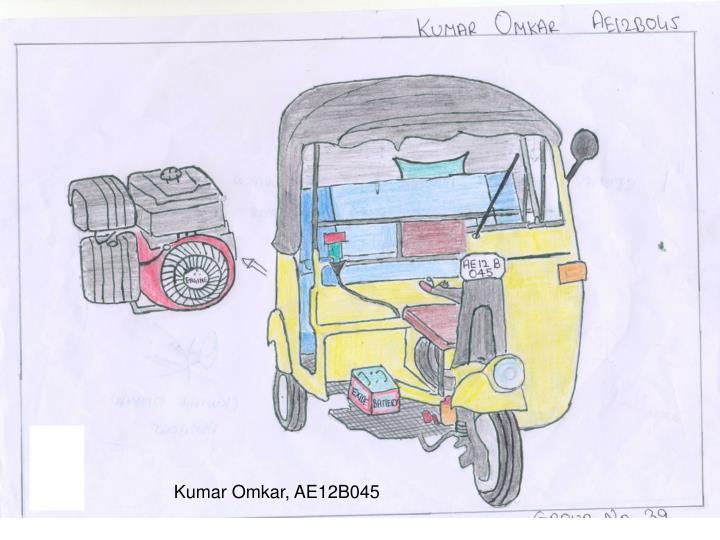 Kumar Omkar, AE12B045