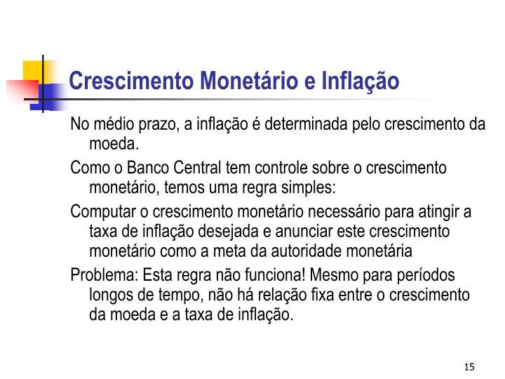 Crescimento Monetário e Inflação