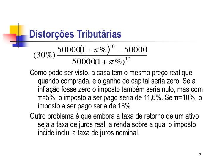Distorções Tributárias