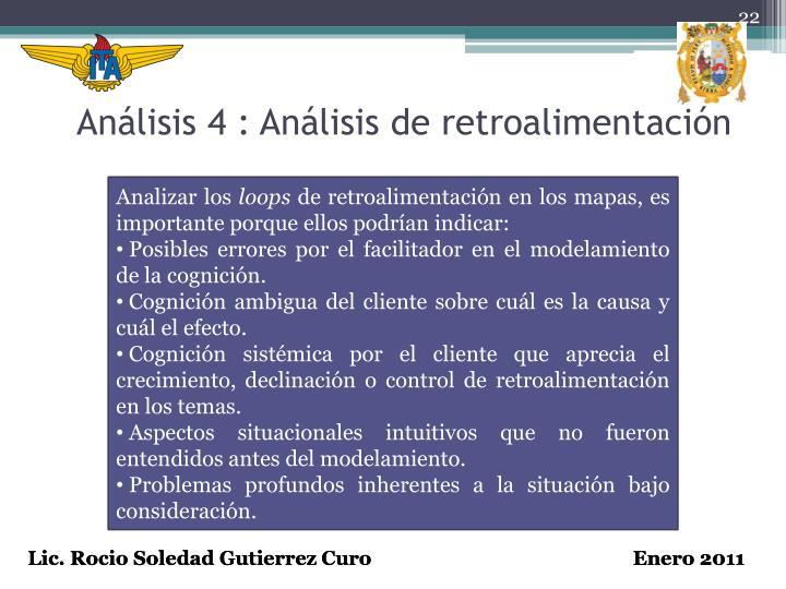 Análisis 4 : Análisis de retroalimentación