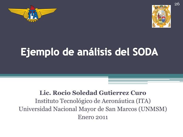 Ejemplo de análisis del SODA