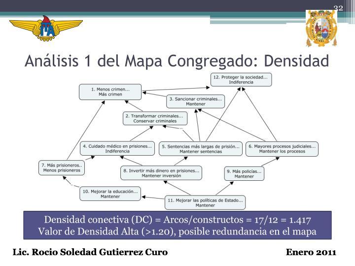 Análisis 1 del Mapa Congregado: Densidad