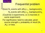 frequentist problem