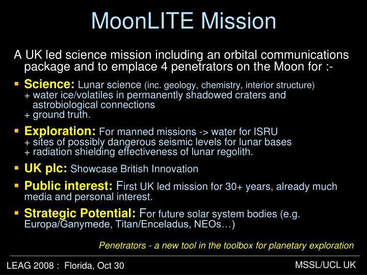 MoonLITE Mission