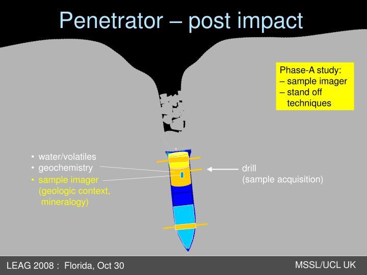 Penetrator – post impact