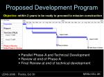 proposed development program