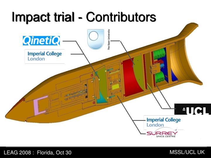 Impact trial - Contributors