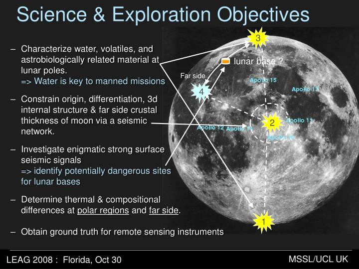 Science & Exploration Objectives