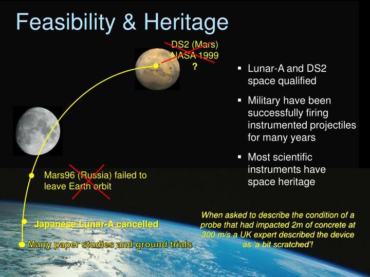 Feasibility & Heritage
