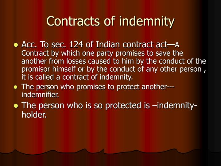 Indemnity & Guarantee - SlideShare