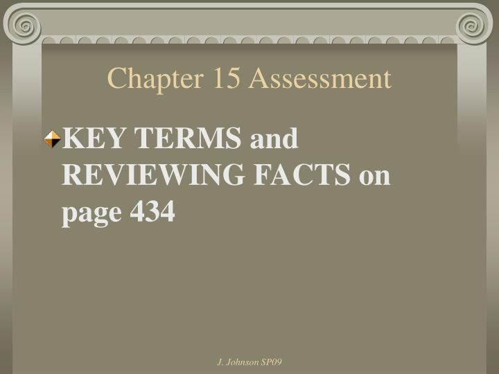 Chapter 15 Assessment