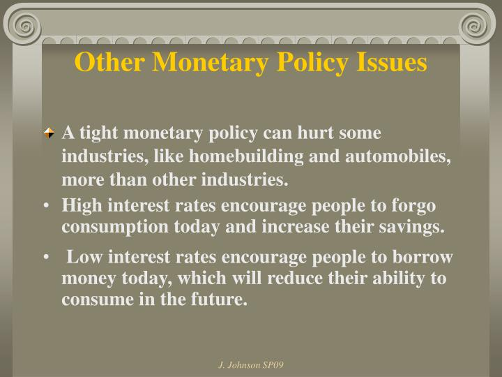 Other Monetary Policy Issues