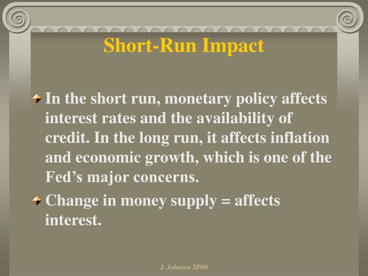 Short-Run Impact