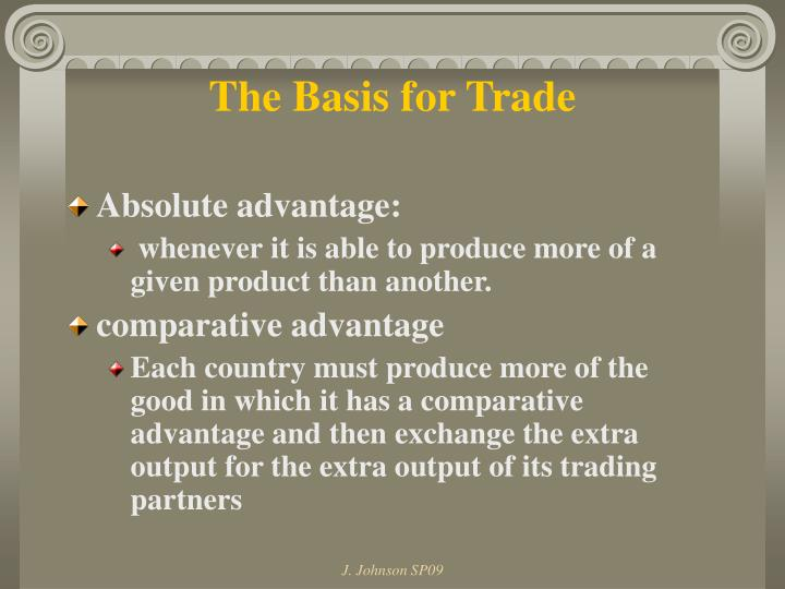 The Basis for Trade