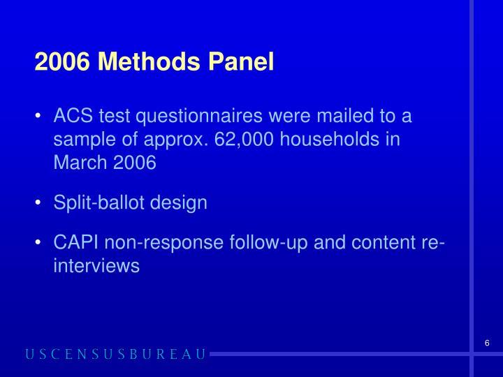 2006 Methods Panel