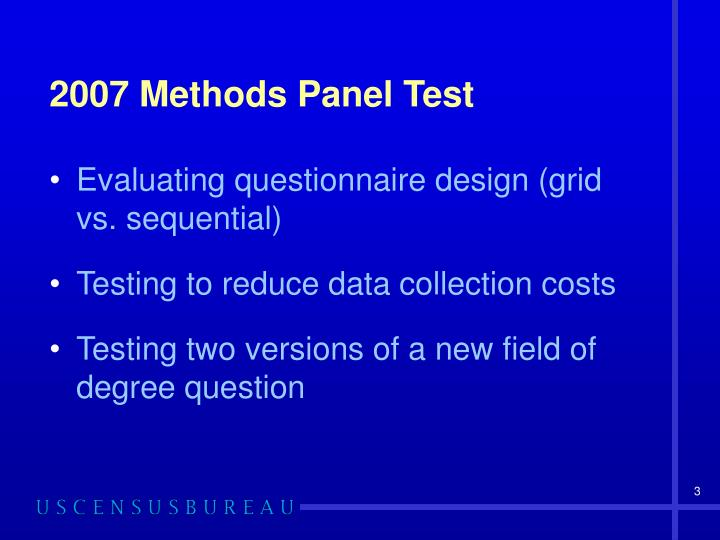2007 methods panel test