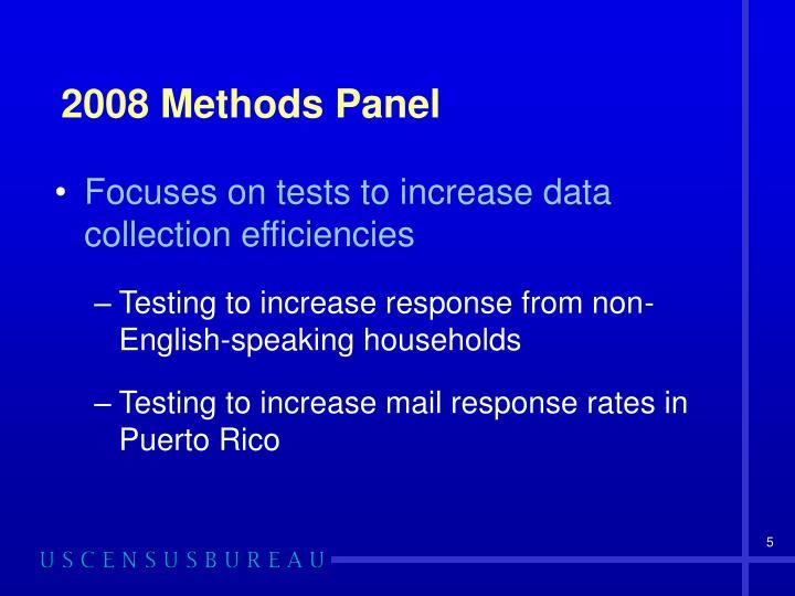 2008 Methods Panel
