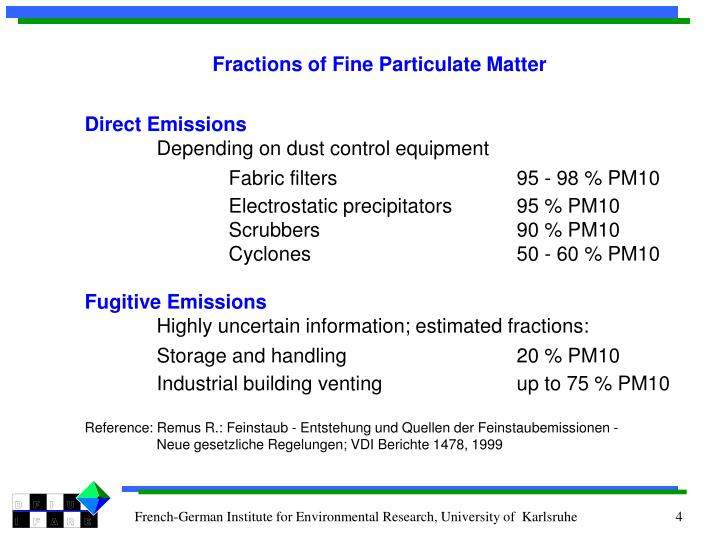 Fractions of Fine Particulate Matter