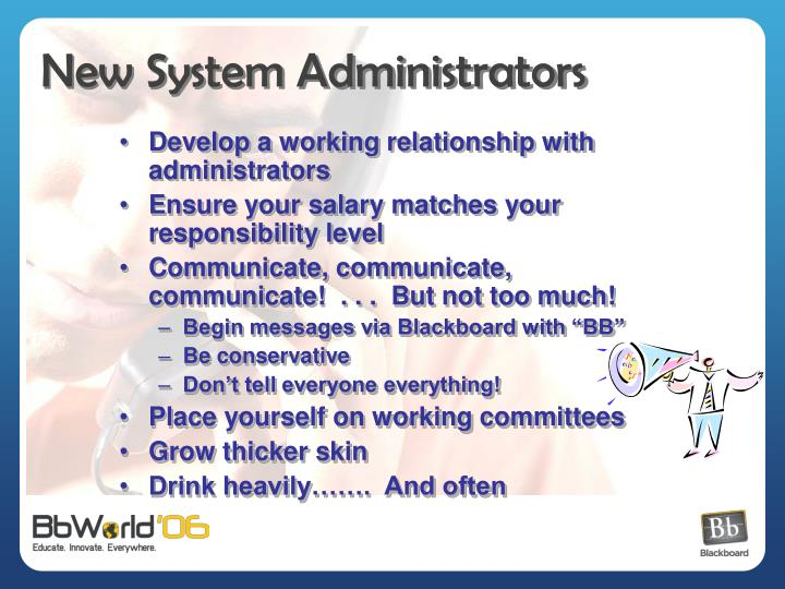 New System Administrators