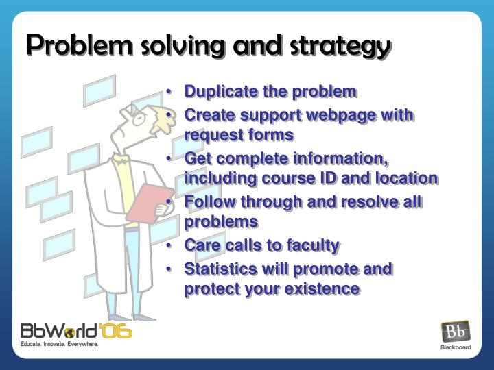 Problem solving and strategy
