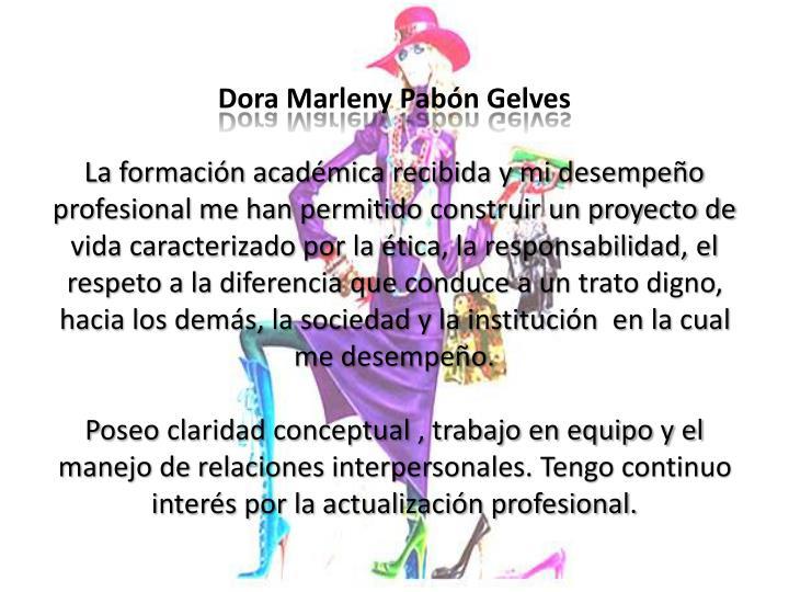 Dora Marleny Pabón Gelves