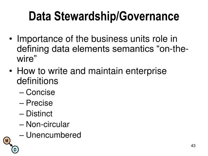 Data Stewardship/Governance