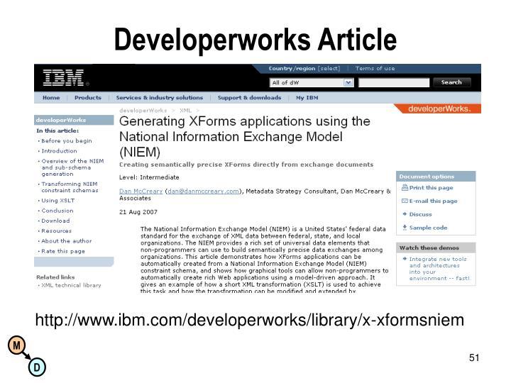 Developerworks Article