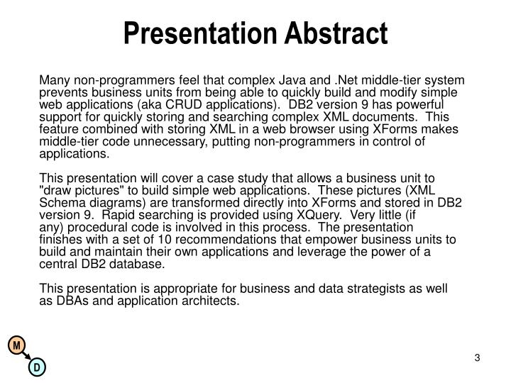 Presentation Abstract